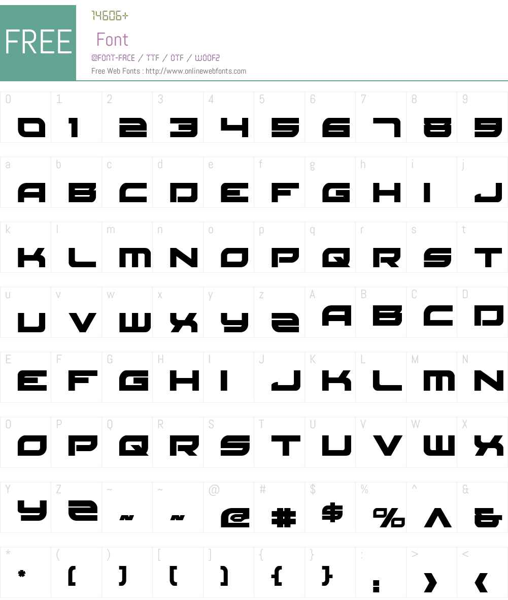 Red Rocket Font Screenshots