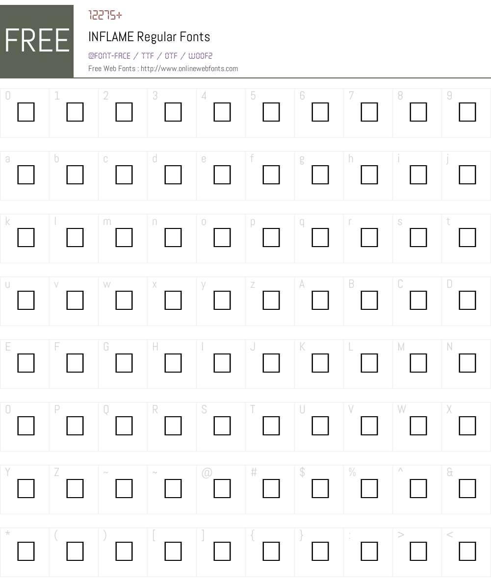 INFLAME Font Screenshots