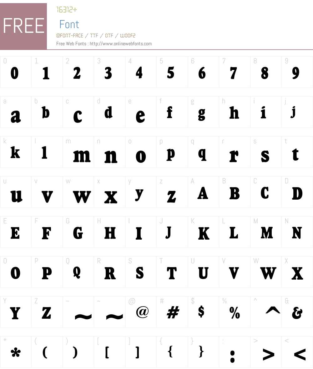 Goudy Heavyface Font Screenshots