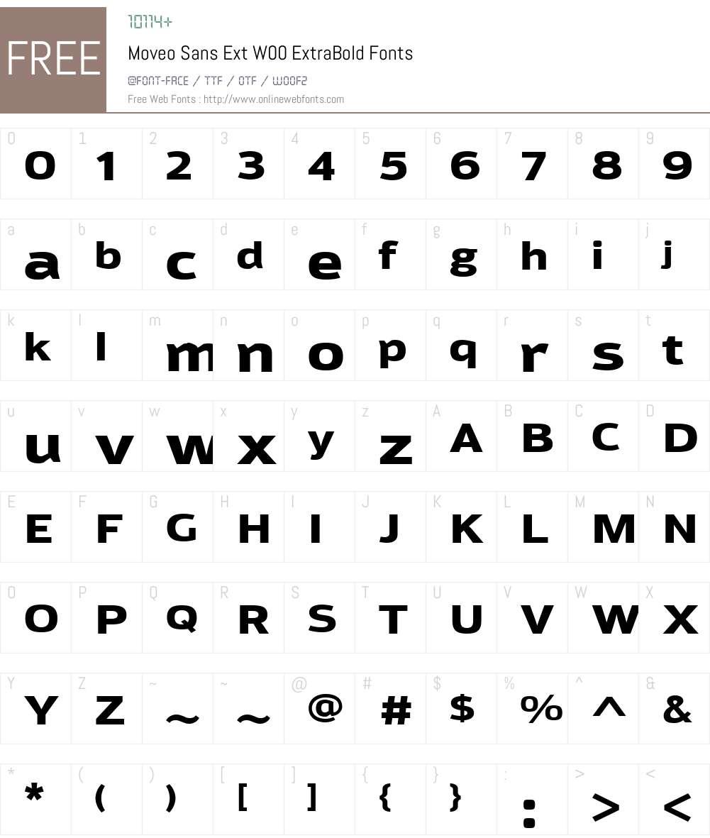 MoveoSansExtW00-ExtraBold Font Screenshots