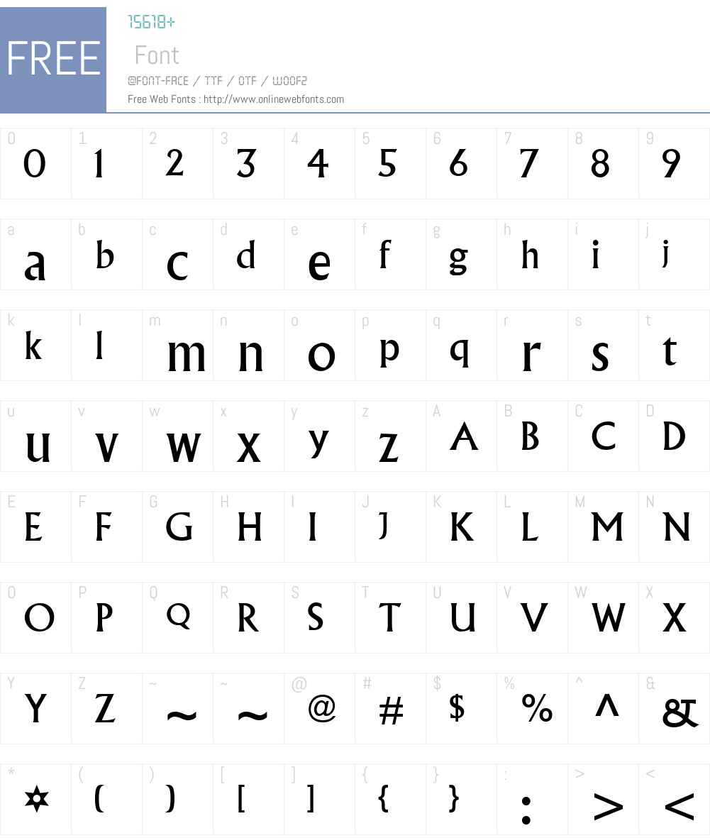 AlbertusW01 Font Screenshots