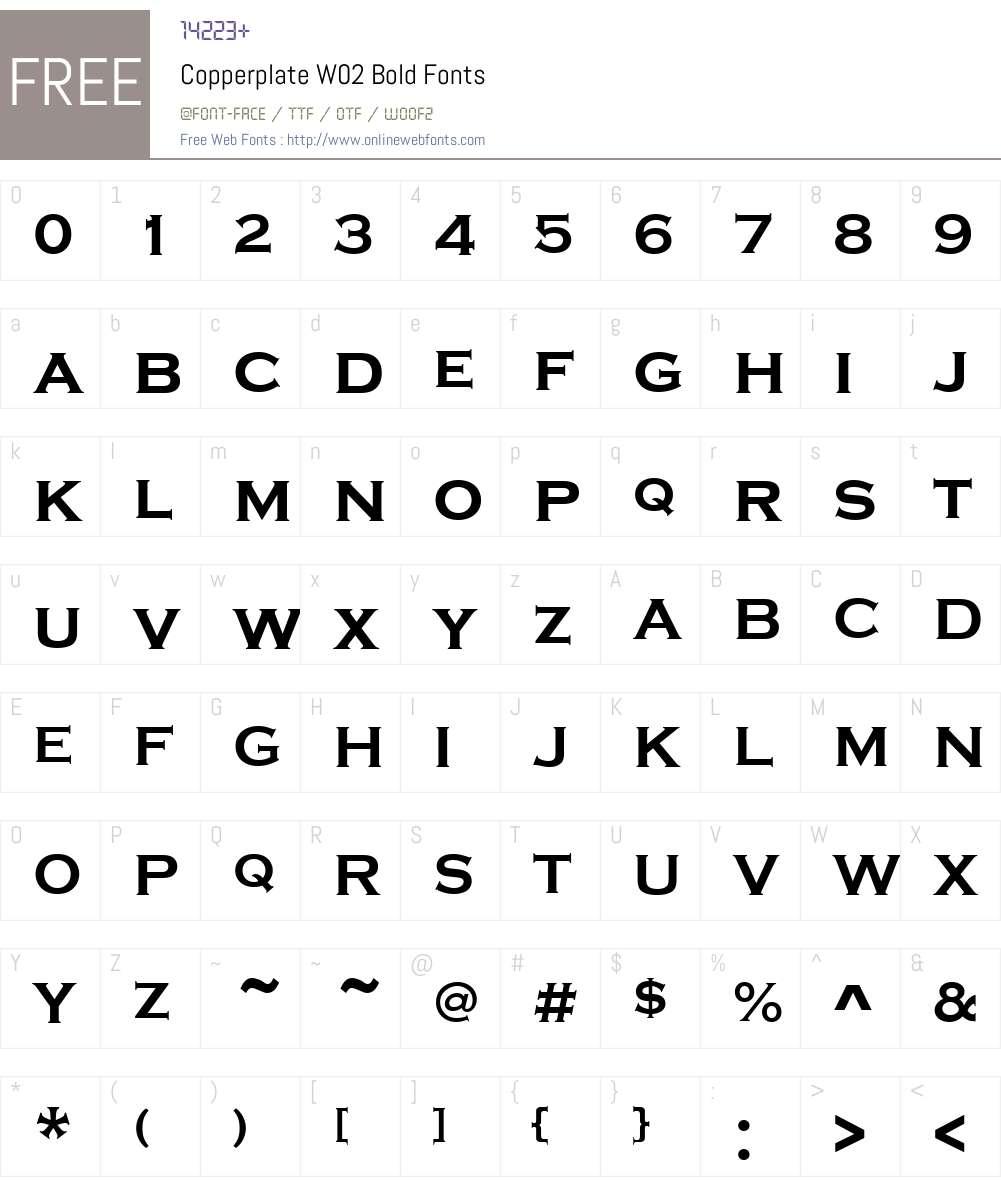 Copperplate Font Screenshots