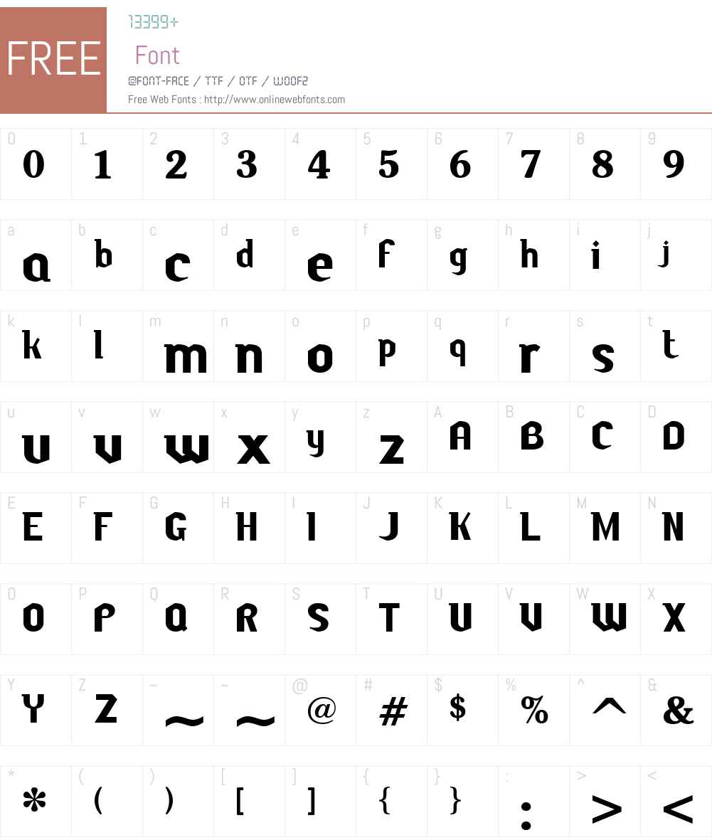 Butch Font Screenshots