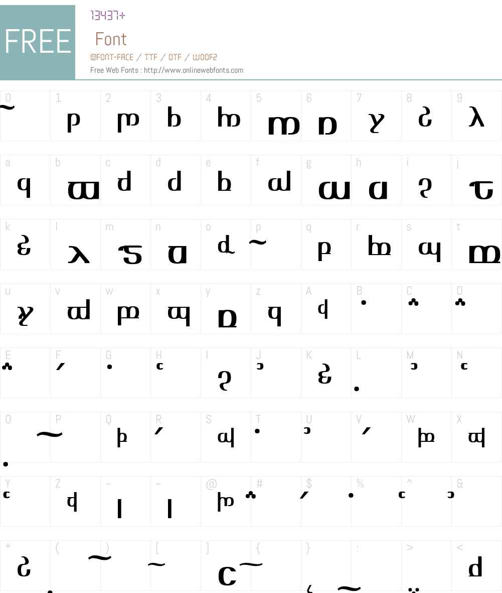 TengwarOptimeDiagon Font Screenshots