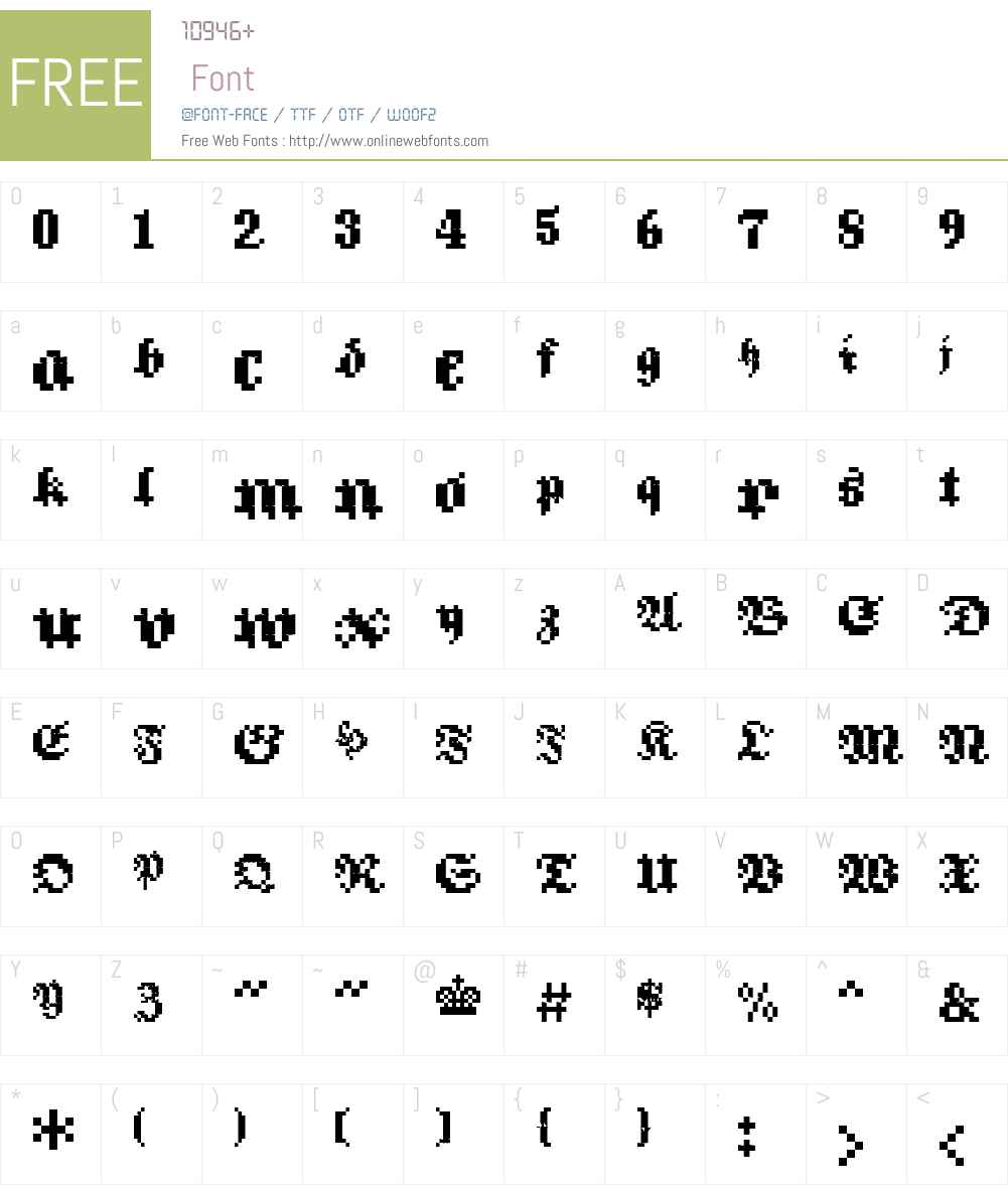Flat10 Fraktur Font Screenshots
