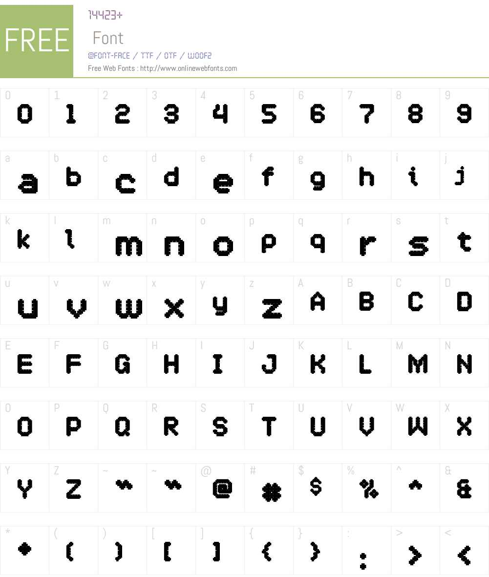 OneCross Font Screenshots