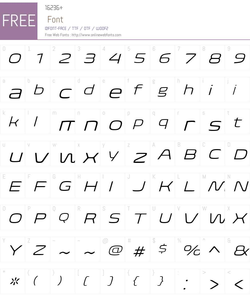 BiomeW01-WideLightItalic Font Screenshots