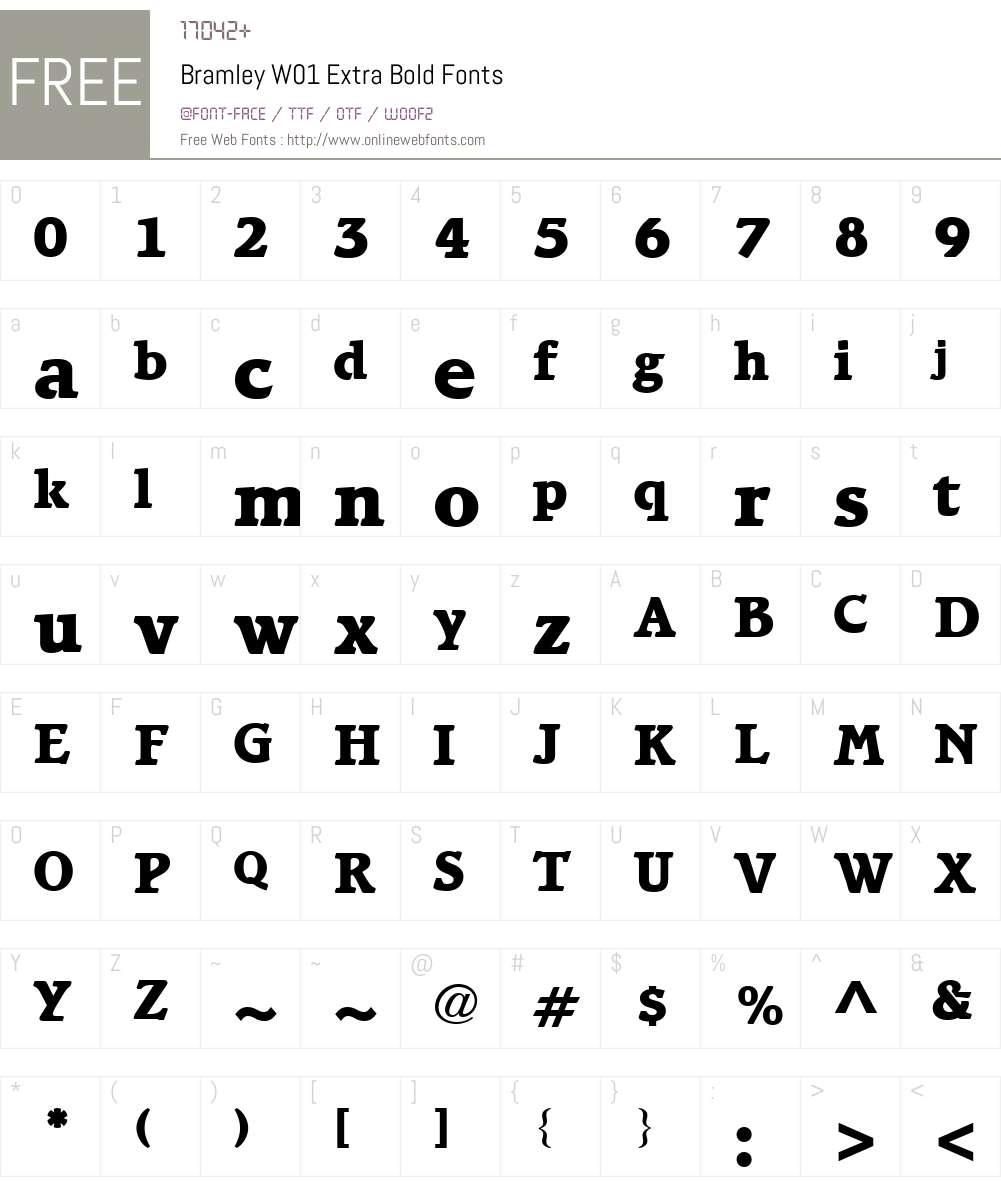 BramleyW01-ExtraBold Font Screenshots