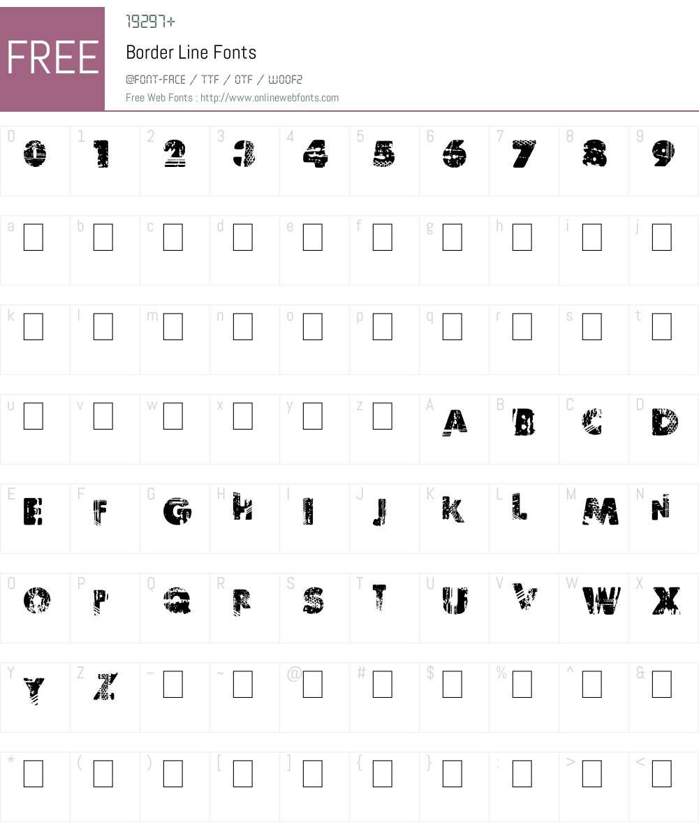 Border Line Font Screenshots
