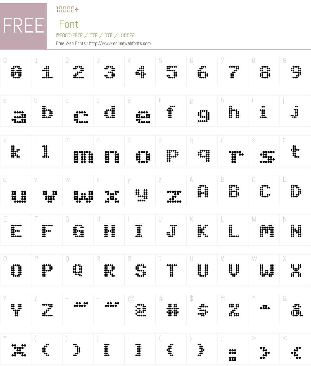 DotMatrix Font Screenshots