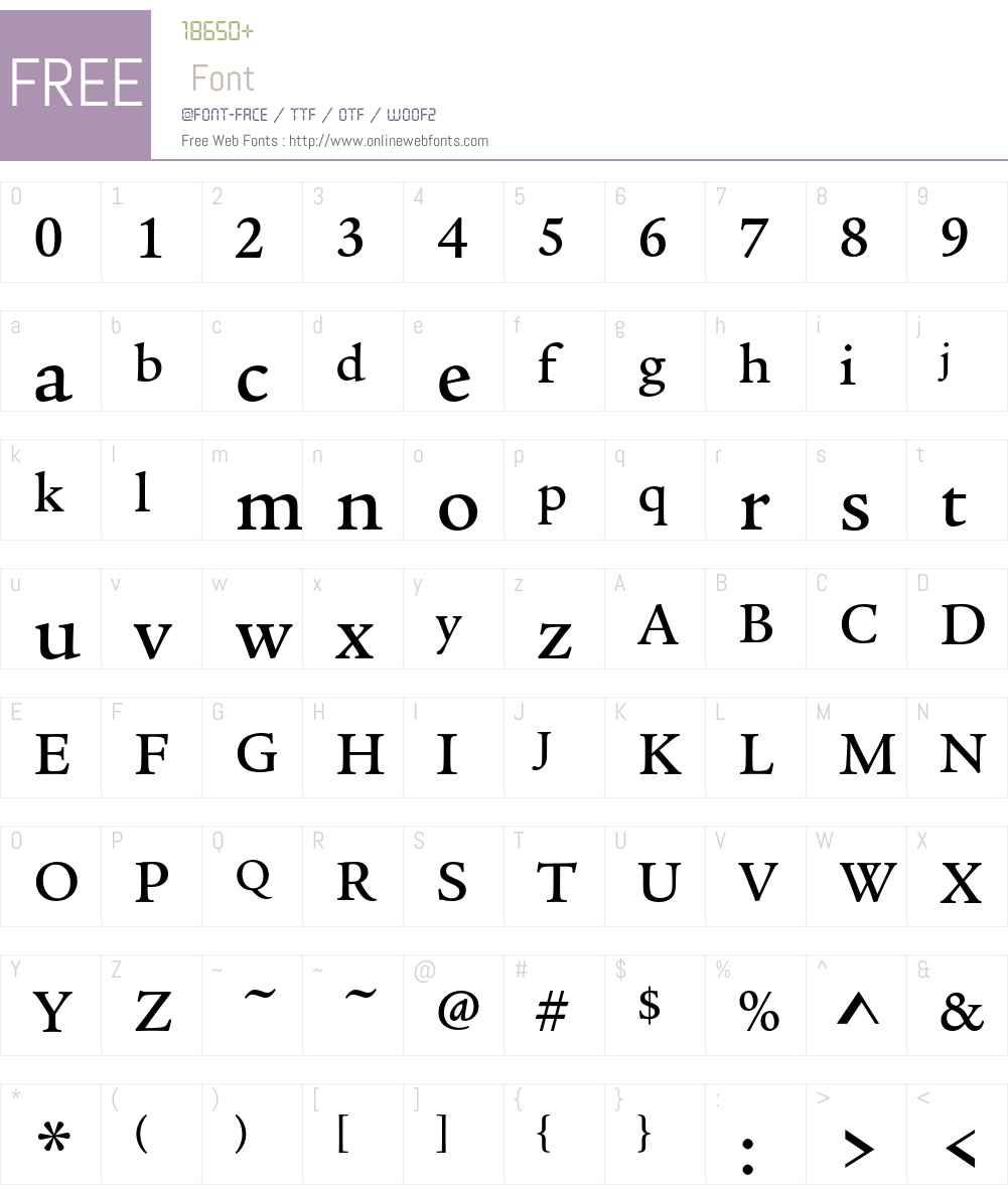 ITC Legacy Serif Std Font Screenshots