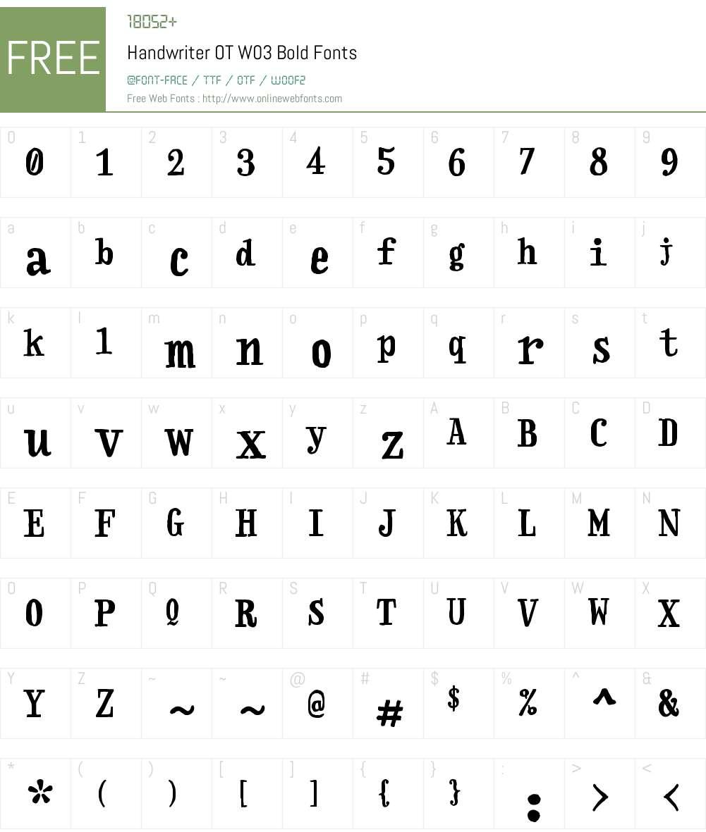 FF Handwriter Font Screenshots