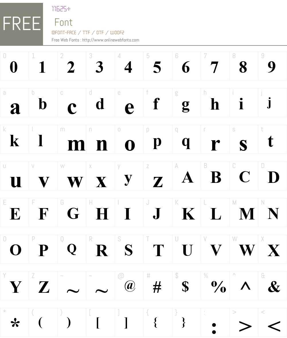 Alpsoft Esliye Font Screenshots