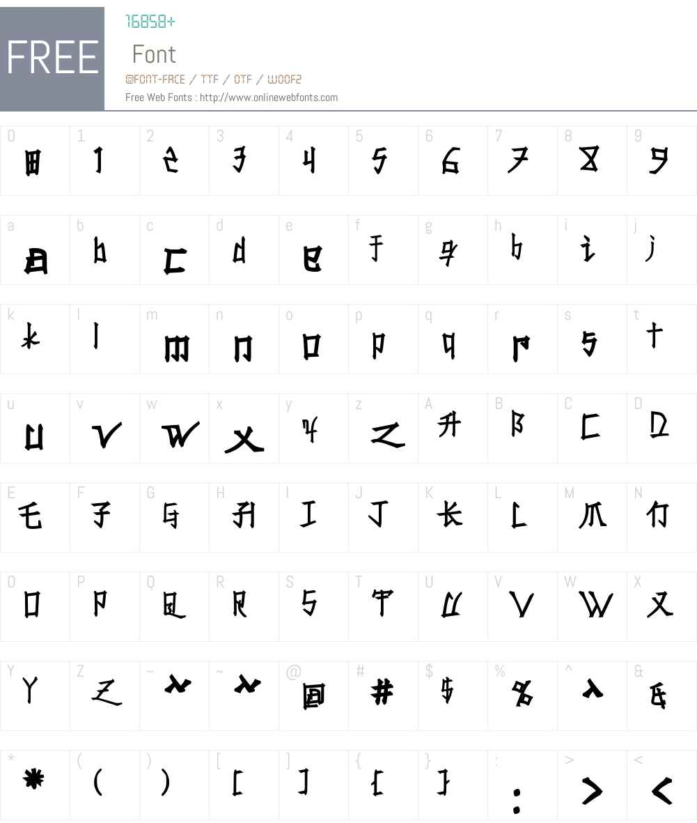 Konfuciuz Fat Font Screenshots