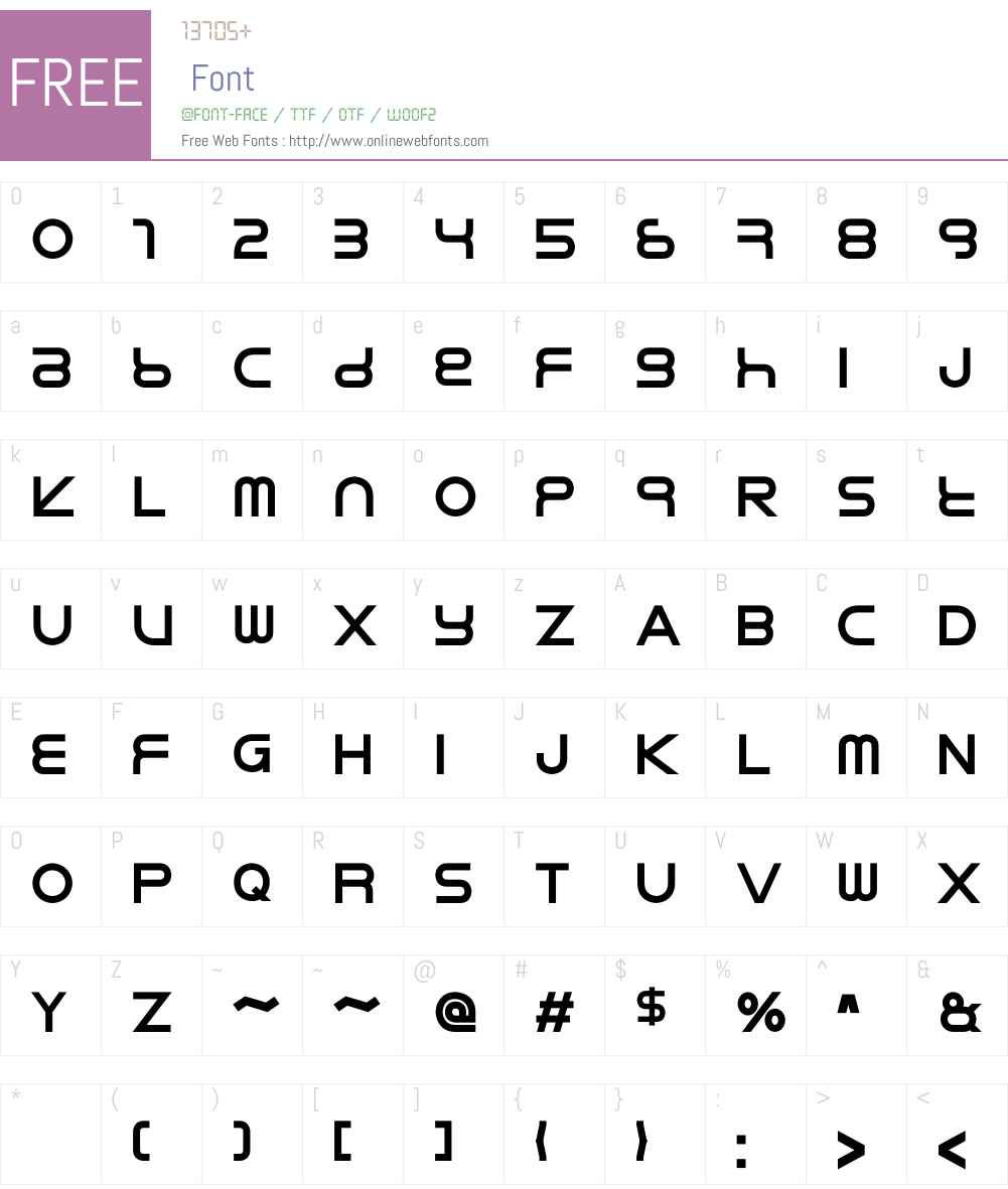 Rikos Font Screenshots