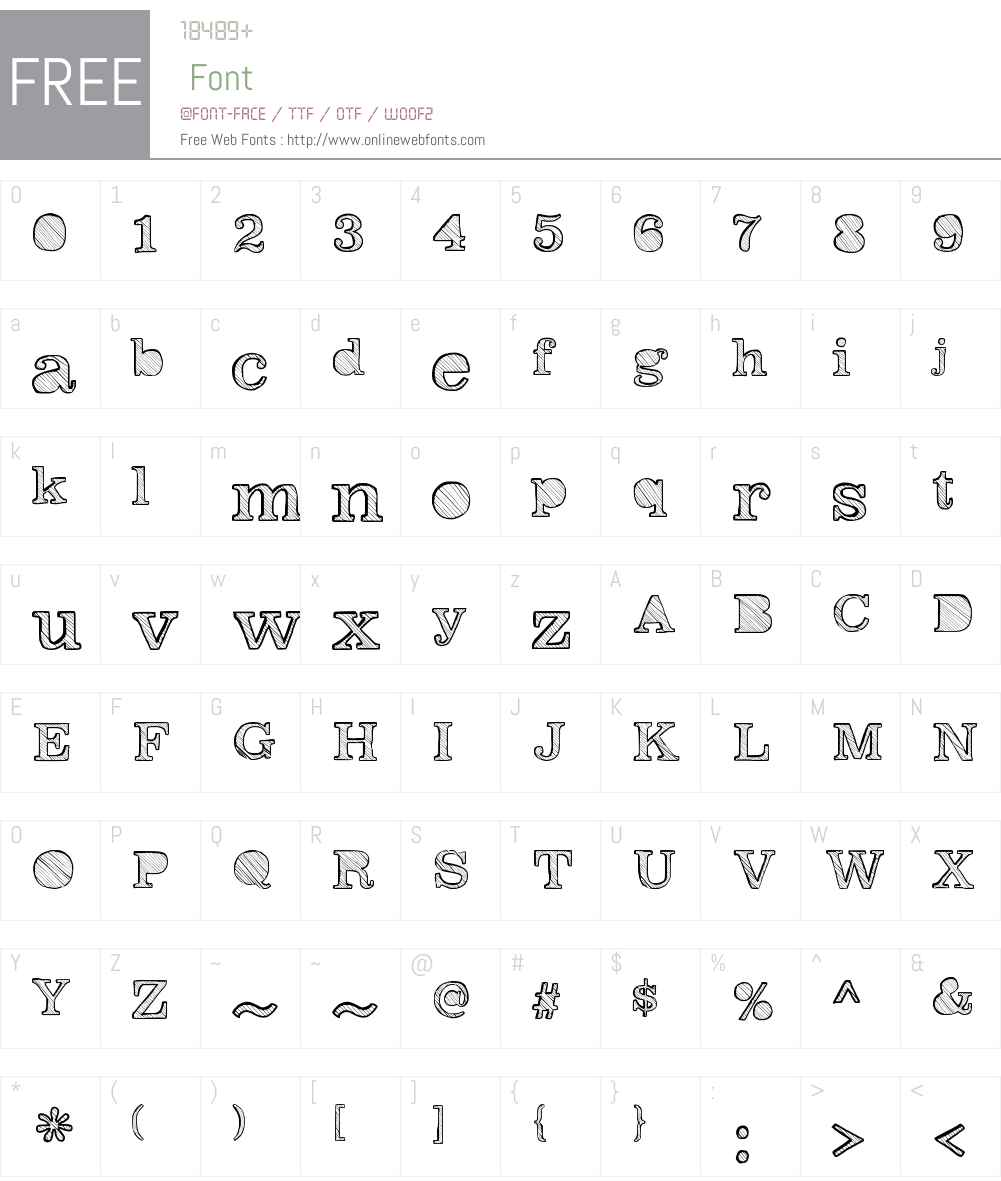 Reckoning Font Screenshots