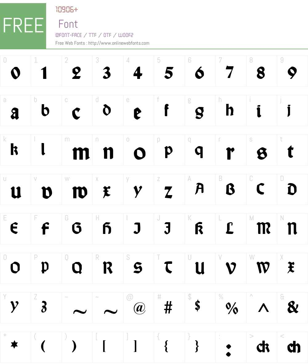 Wallau Font Screenshots