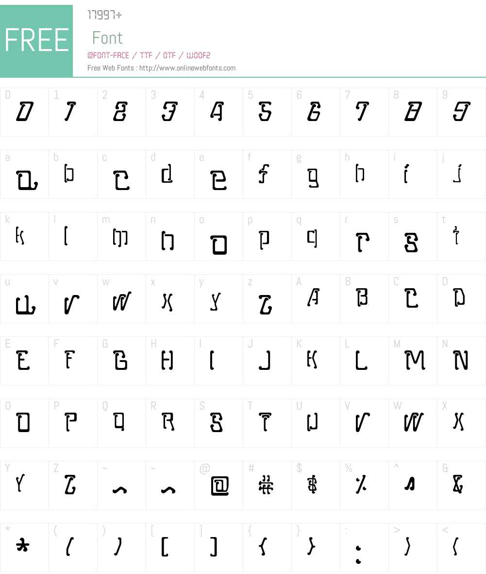 Moped Font Screenshots