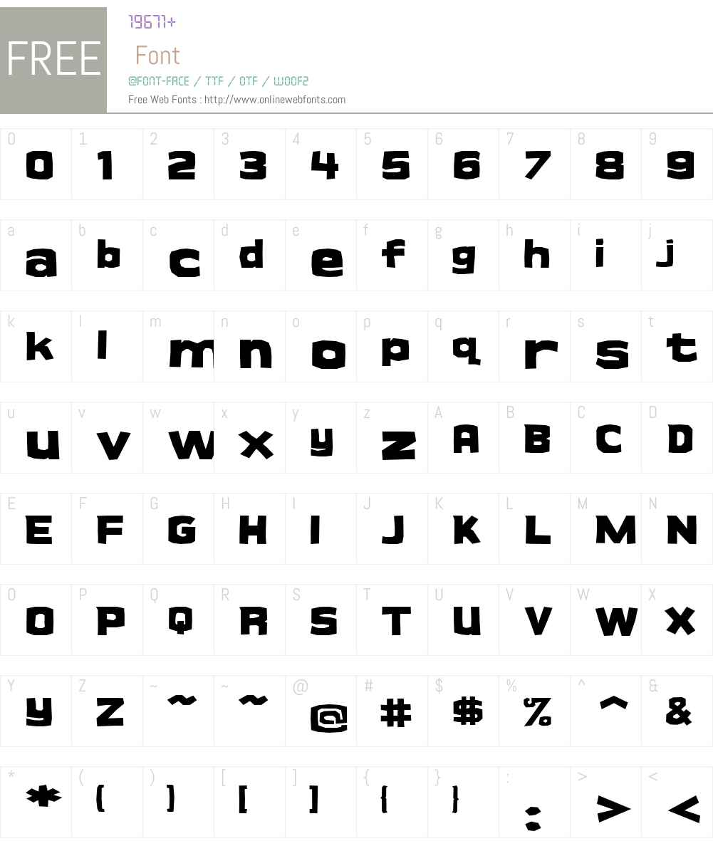 Cueva Font Screenshots