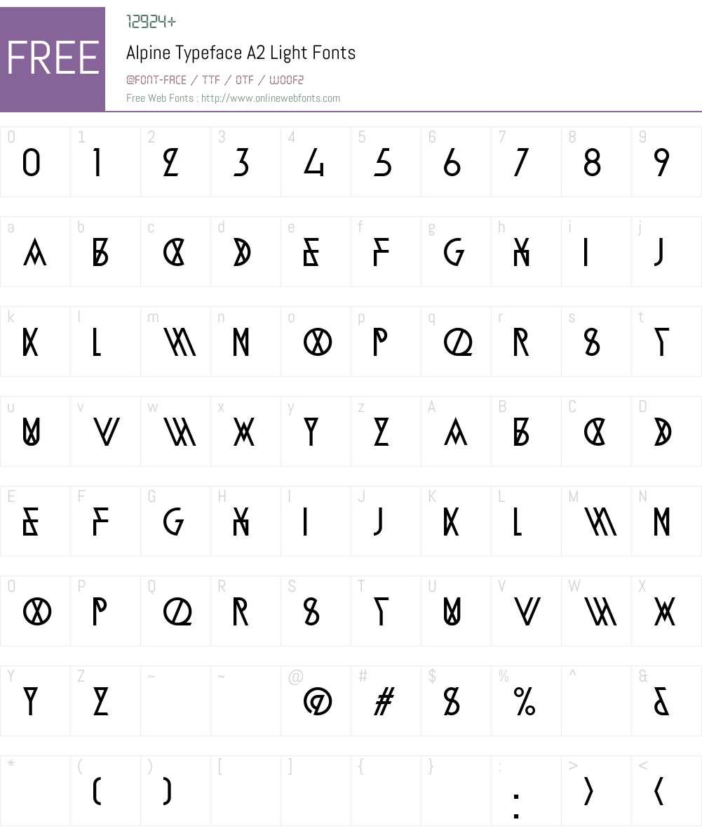 Alpine Typeface A2 Font Screenshots