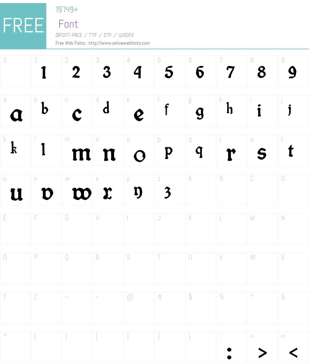 fin fraktur Font Screenshots