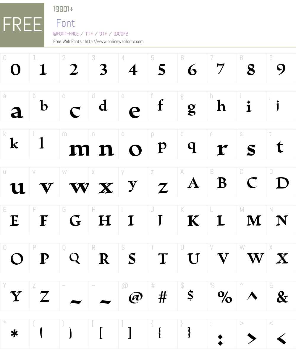 EscrituraW01-Bold Font Screenshots