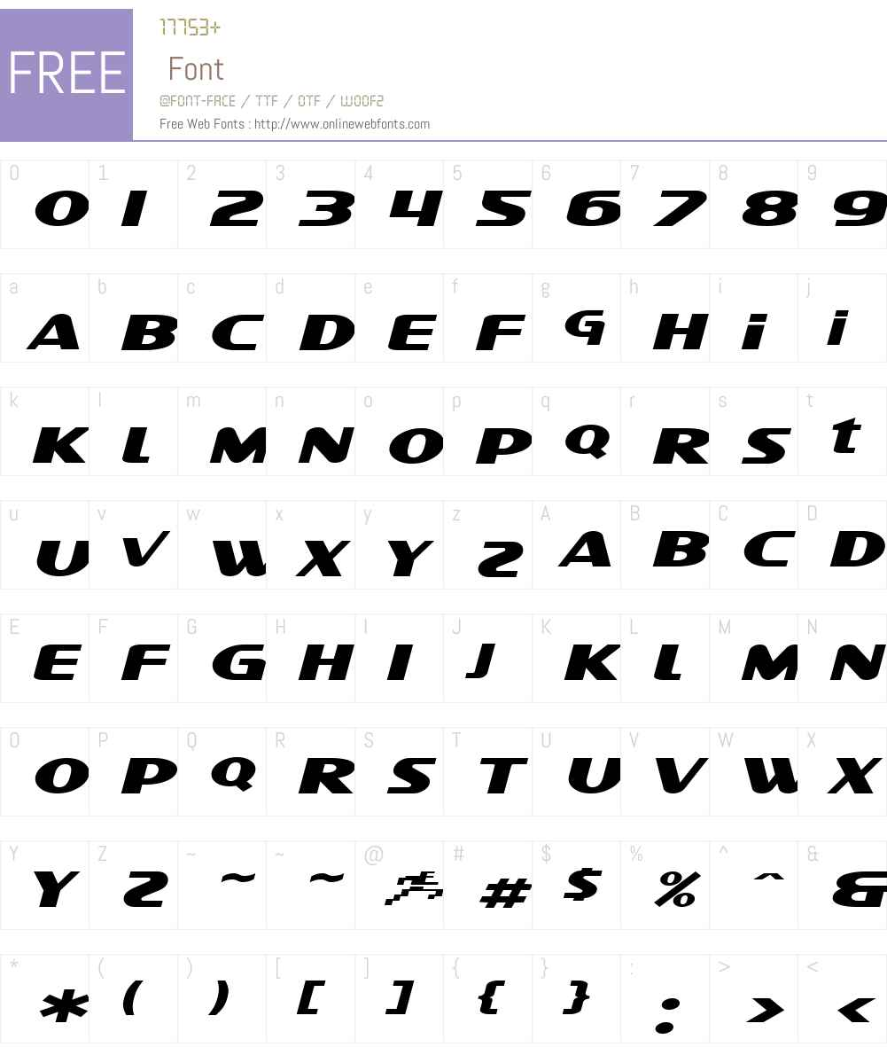 SF Intellivised Extended Font Screenshots