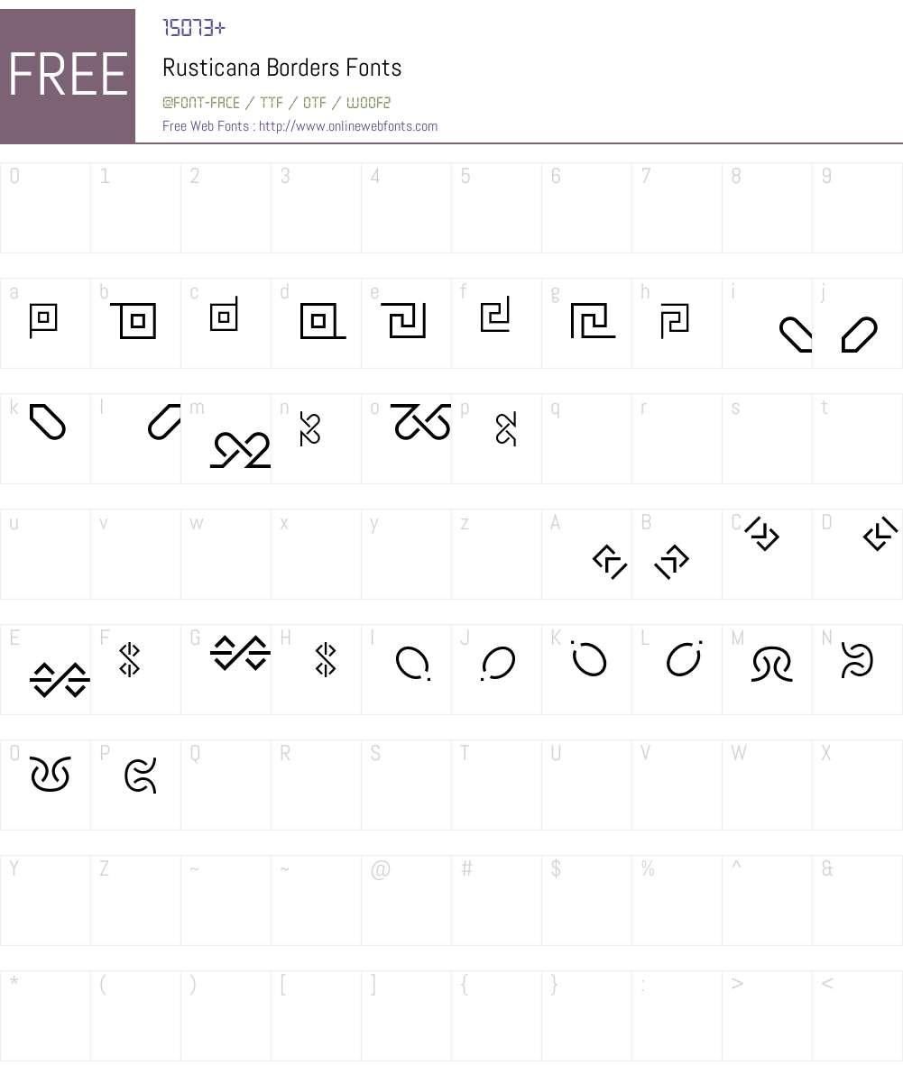 Rusticana Font Screenshots