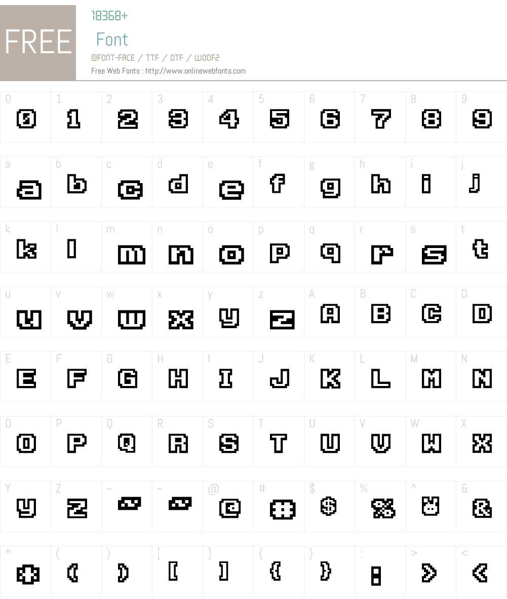 D3 Rabbitmapism Wide Outline Font Screenshots
