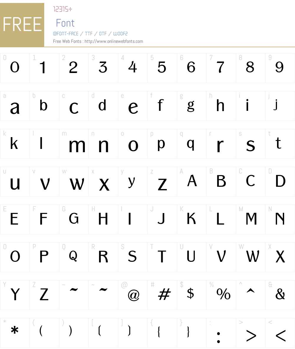 Panache Font Screenshots