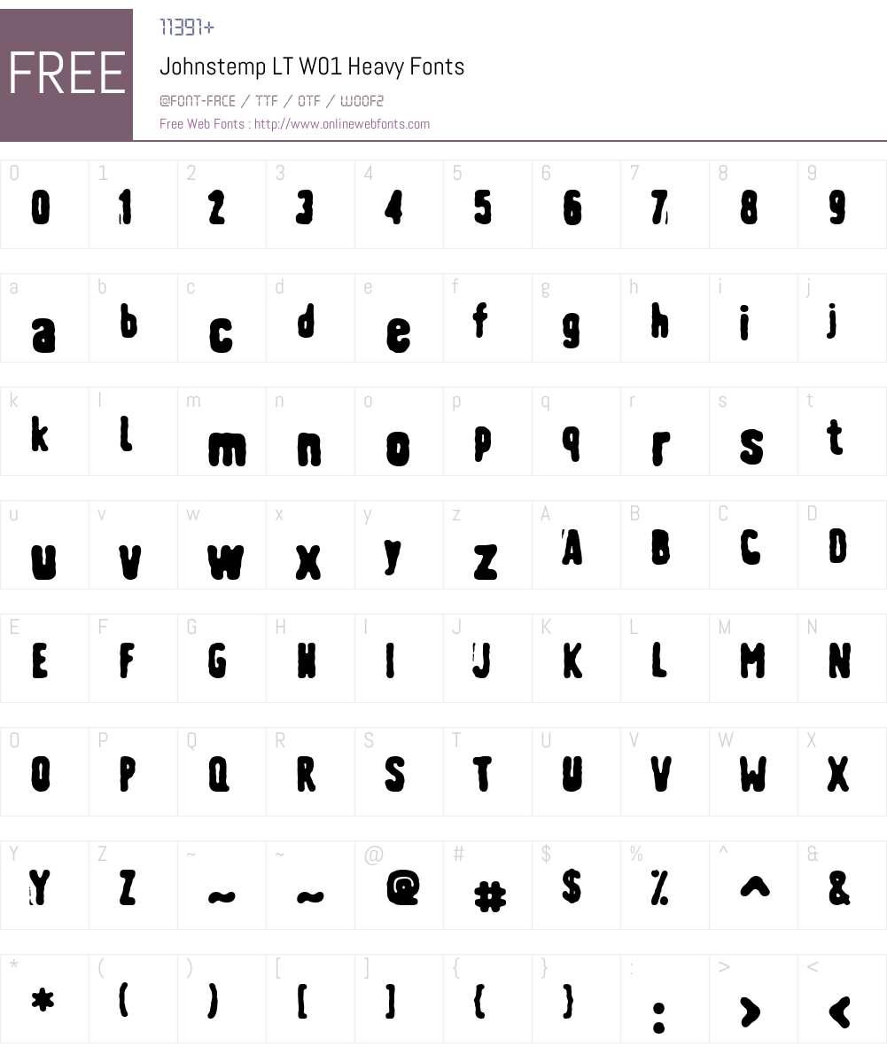 JohnstempLTW01-Heavy Font Screenshots
