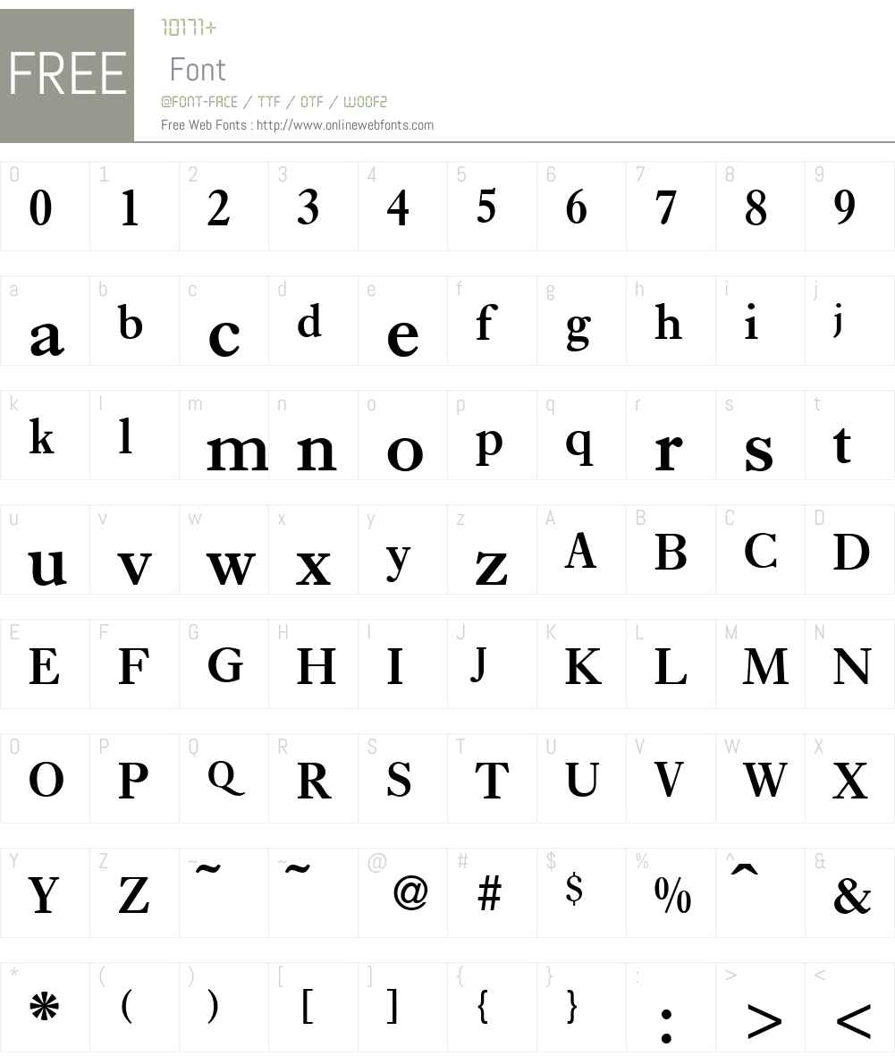 E720-Roman Font Screenshots