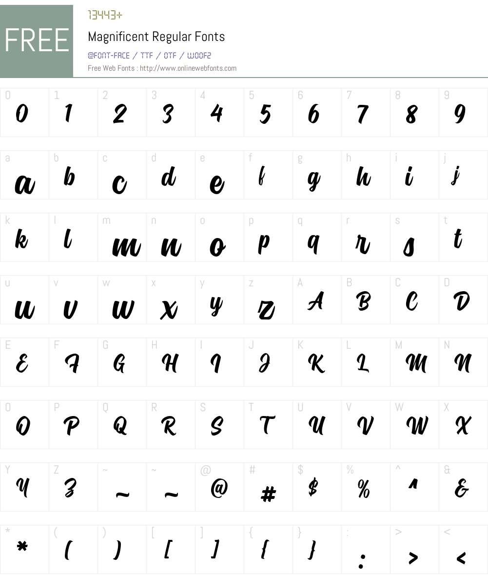 Magnificent Font Screenshots