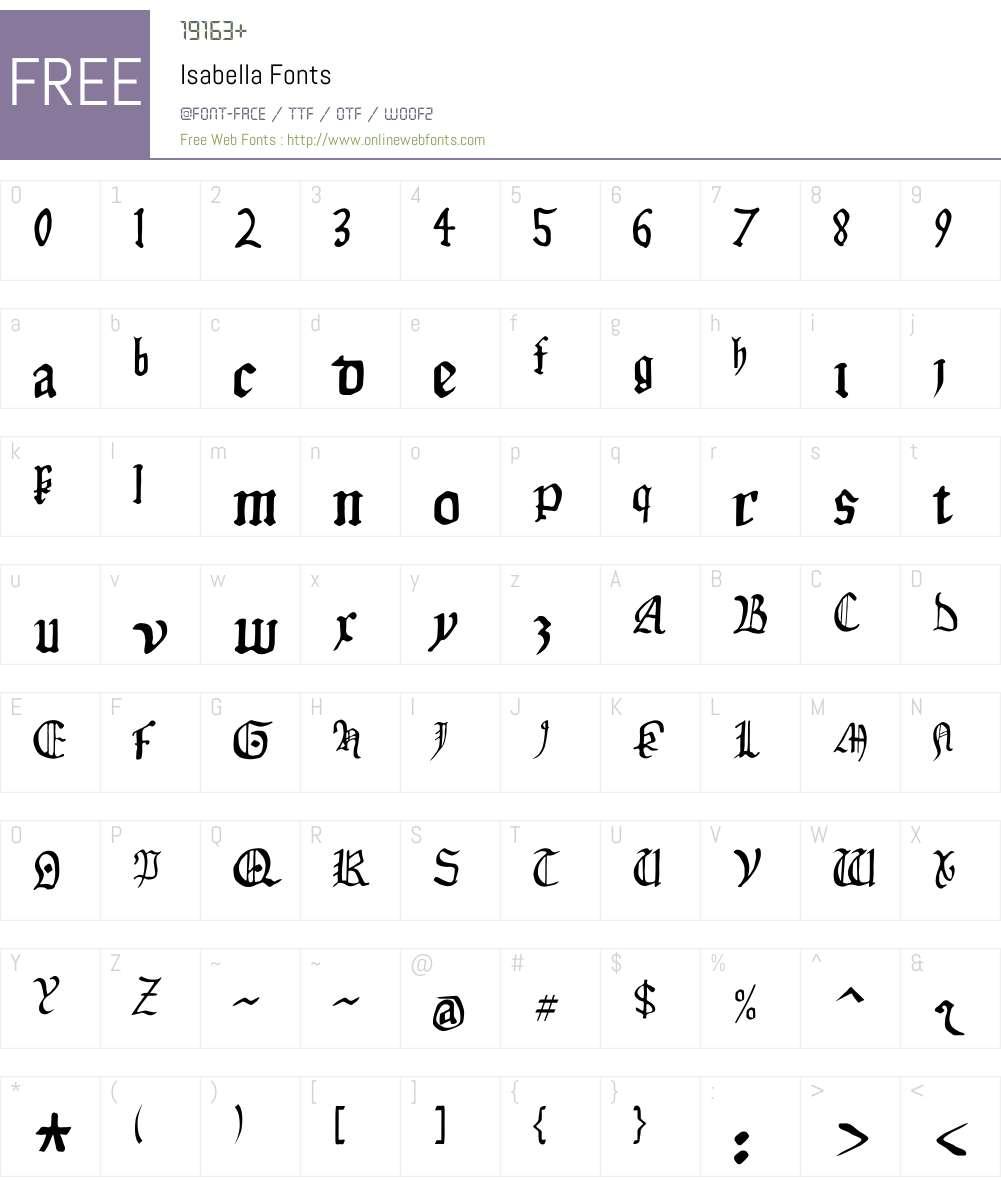 Isabella Font Screenshots