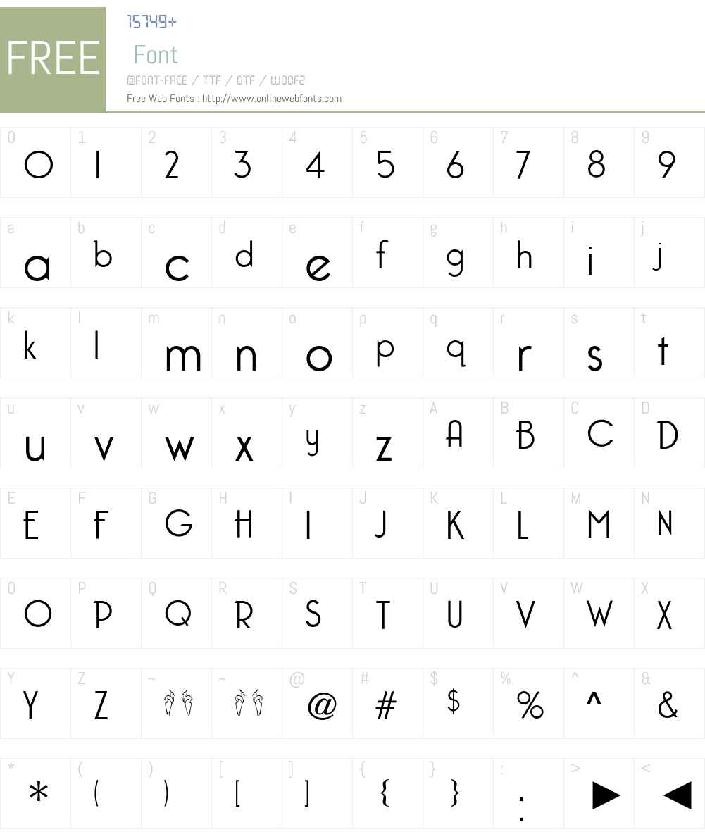 CgCaponeLight Font Screenshots