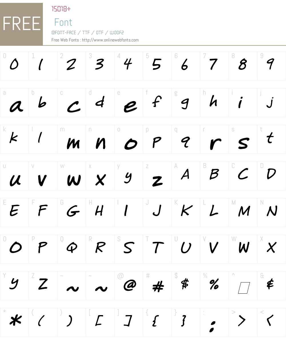 Sharpie Missy Font Screenshots