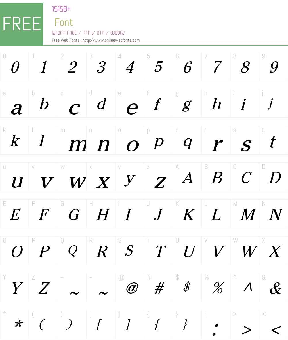 Cheltenham-Normal Font Screenshots