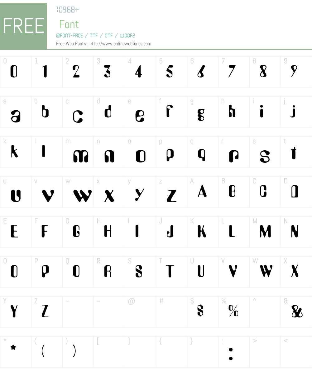 Urkle Font Screenshots
