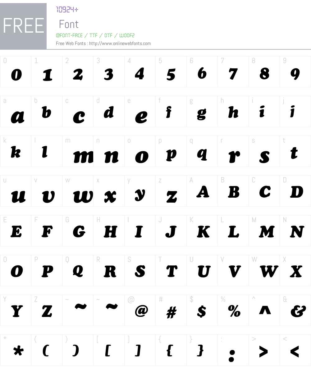 Cooper Black Font Screenshots