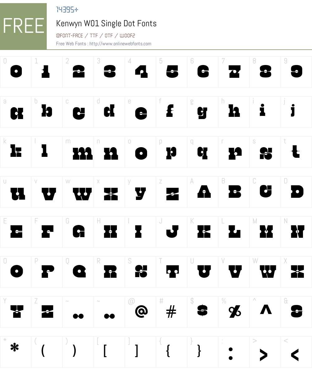 KenwynW01-SingleDot Font Screenshots