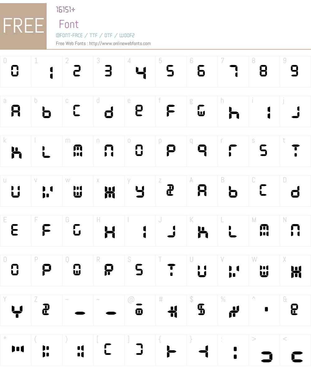 Readout Font Screenshots