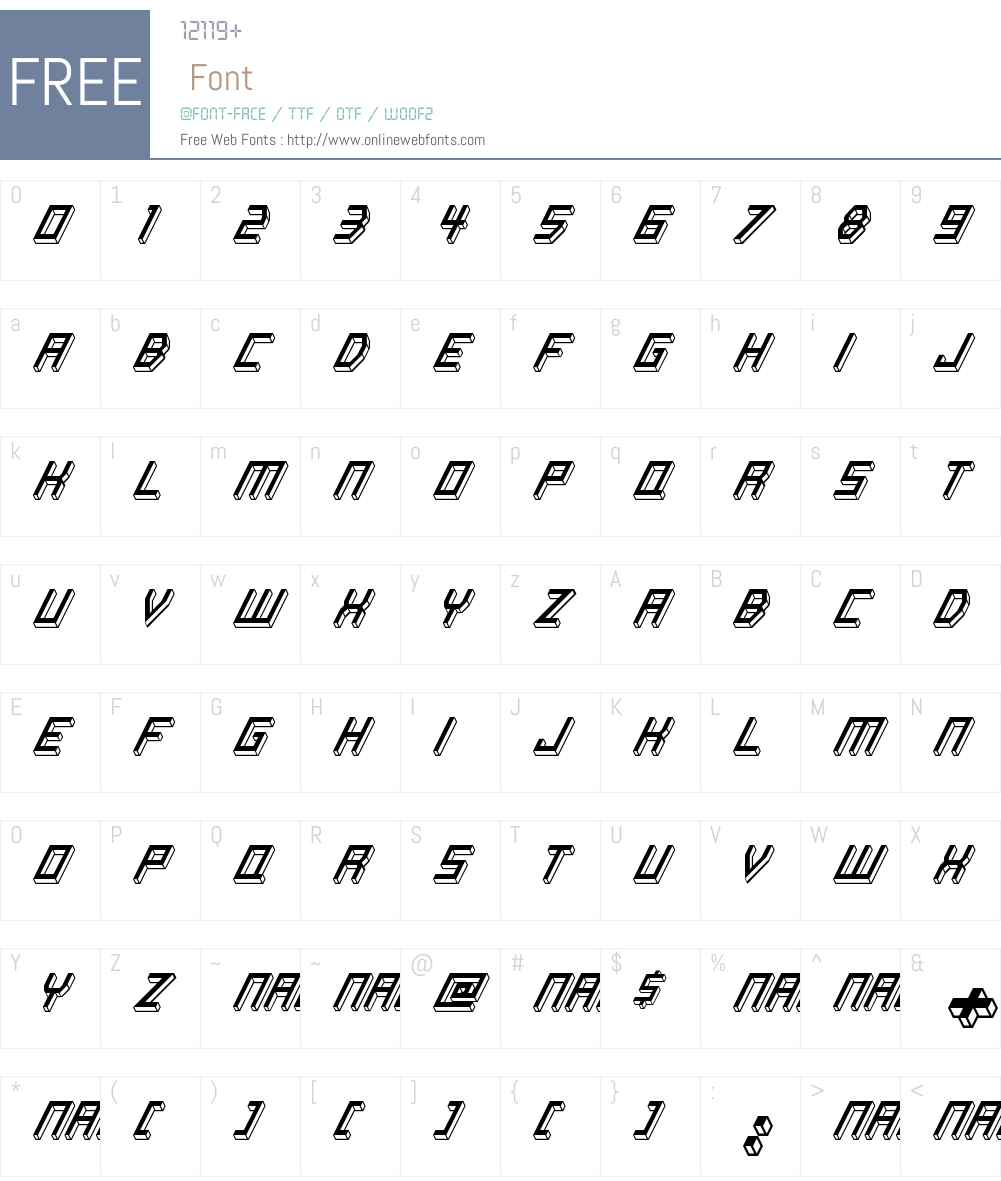 Italic Bricks Font Screenshots