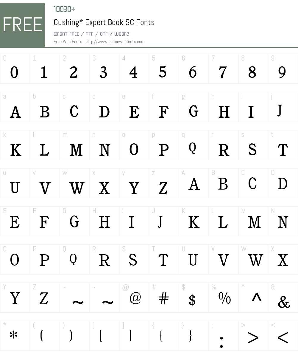 Cushing Expert BQ Font Screenshots