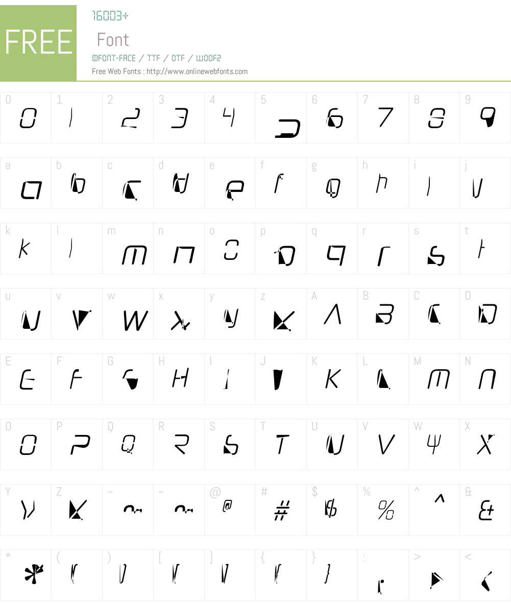 NeuropolNovaW00-CondLightIt Font Screenshots