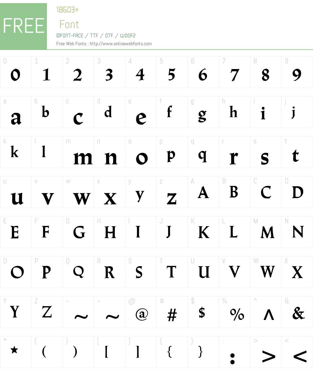 Linotype Trajanus Font Screenshots