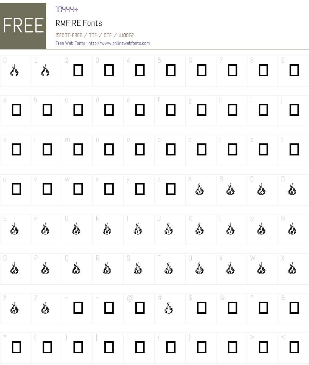 RMFIRE Font Screenshots