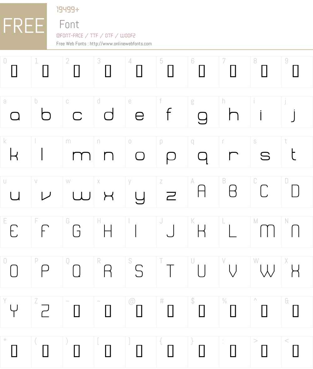 Recalcitrance Font Screenshots