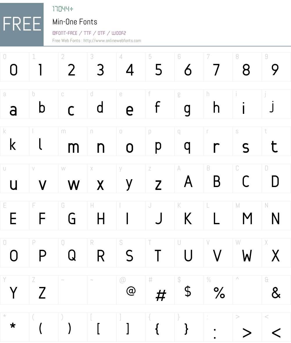Min Font Screenshots