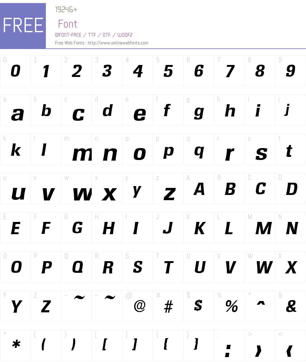 RochesterSerial-Xbold Font Screenshots