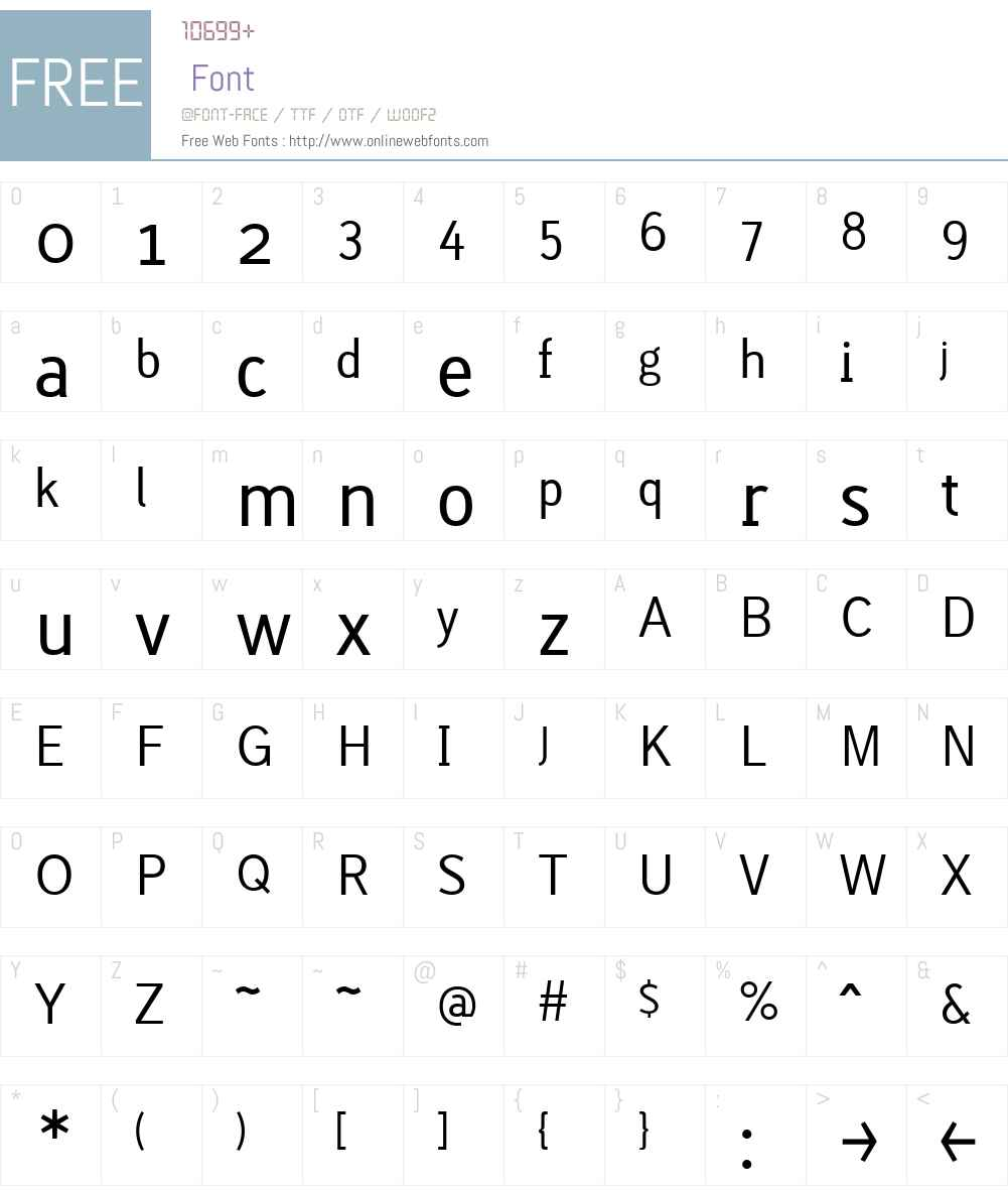 Lacuna Regular Font Screenshots